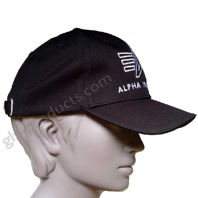 Alpha Logo Cap Seitenansicht